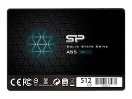 Silicon Power TLC Solid State Drive, SP512GBSS3A55S25, 37251428, Solid State Drives - Internal