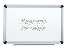 3M Porcelain 96x48 Dry Erase Board, Aluminum Finish Frame, Magnetic, P9648FA, 11757148, Whiteboards