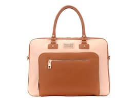 Eco Style LONDON SHOULDER BAG-CREAM BROWNCASEFITS UP TO 15.6IN + TABLET & STRAP, SLLDN-CRBR-14, 36381984, Carrying Cases - Other