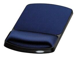 Fellowes Jewel Tones Gel Wrist Rest & Mouse Pad - Sapphire Black, 98741, 131520, Ergonomic Products