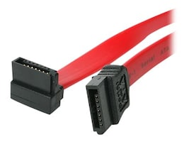 StarTech.com SATA to Right Angle SATA Serial ATA F F Cable, 18, SATA18RA1, 4925772, Cables
