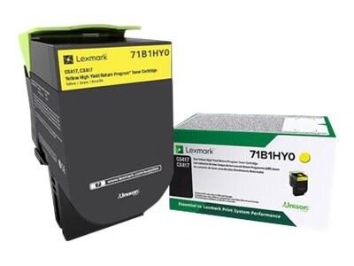 Lexmark Yellow High Yield Return Program Toner Cartridge for CS417dn, CS517de, CX417de & CX517de, YELLOW HIGH YLD RETURN PROGRAM, 33982451, Toner and Imaging Components - OEM