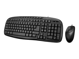 Adesso EasyTouch 133 Desktop USB Multimedia Keyboard Mouse Combo, AKB-133CB, 34366713, Keyboard/Mouse Combinations
