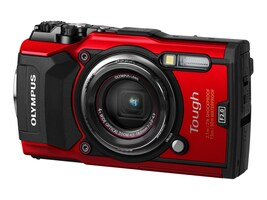 Olympus TG-5 Waterproof Camera with 3 LCD, Red, V104190RU000, 35593619, Cameras - Digital