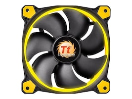 Thermaltake Riing 12 LED Case Fan, Yellow, CL-F038-PL12YL-A, 30987791, Cooling Systems/Fans