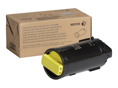 Xerox Yellow Extra High Capacity Toner Cartridge for VersaLink C600 Series, 106R03918, 34355256, Toner and Imaging Components - OEM