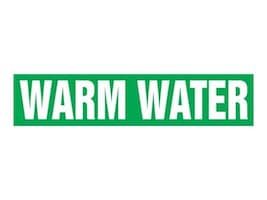 Panduit Snap-On Pipe Marker, Warm Water, Green, Size A, PPMS1625A, 36057631, Tools & Hardware