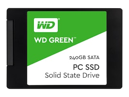 WD 240GB WD Green SATA 6Gb s 2.5 7mm Cased Solid State Drive, WDS240G1G0A, 34386204, Solid State Drives - Internal