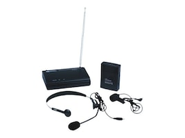 AmpliVox WRLS VHF LAPEL & HEADSET MIC   MIC KIT ONE OPERATING FREQUENCY, S1612, 38263009, Microphones & Accessories