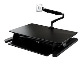 StarTech.com Sit Stand Desk Converter with Monitor Arm for up to 26 Monitors, BNDSTSLGSLIM, 37662497, Furniture - Miscellaneous