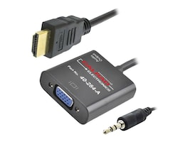 Calrad HDMI to VGA M F Adapter with 3.5mm Audio, 40-284A, 32429565, Adapters & Port Converters