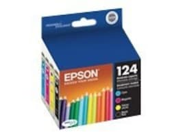 Epson 124 Moderate-Capacity Combo-Pack Ink Cartridges, T124120-BCS, 11888623, Ink Cartridges & Ink Refill Kits - OEM