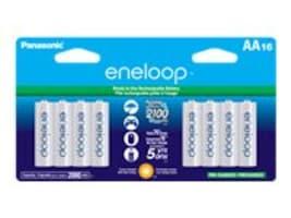 Panasonic Eneloop AA Battery, 16-Pack, BK-3MCCA16BA, 35069323, Batteries - Other