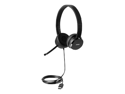 Lenovo 100 Stereo USB Headset, 4XD0X88524, 41045809, Headsets (w/ microphone)