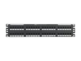 Panduit NK 48-Port Cat6A Molded Punchdown Flat Patch Panel, 2RU, NK6XPPN48P, 34120650, Patch Panels