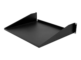 Monoprice 2U Single Sided Shelf, 3.5H x 19W x 14.5D, 50lb Capacity, 8629, 35716068, Rack Mount Accessories