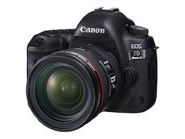 Canon EOS 5D Mark IV Camera with 24-70mm f 4L IS USM Lens, Black, 1483C018, 33951101, Cameras - Digital