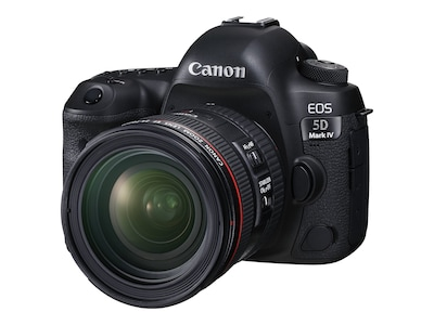 Canon EOS 5D Mark IV Camera with 24-70mm f 4L IS USM Lens, Black, 1483C018, 33951101, Cameras - Digital