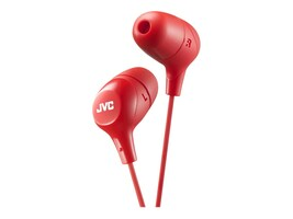 JVC Marshmallow Wired Earbuds - Red, HAFX38R, 34040959, Headphones