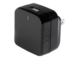StarTech.com USB Wall Charger w  Quick Charge 2.0 for International Travel, Black, USB1PACVBK, 22247098, Battery Chargers