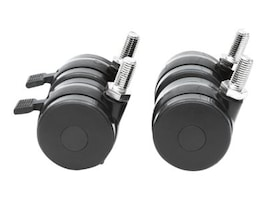 Intellinet 4-Piece Heavy Duty Caster Wheel Set for 19 Racks, (2) Casters w  Brakes, (2) Without, 712170, 35158115, Rack Mount Accessories