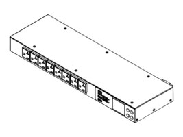 Raritan 1U iPDU 120V, (8) Outlets, PX3-1145R, 35404582, Power Distribution Units