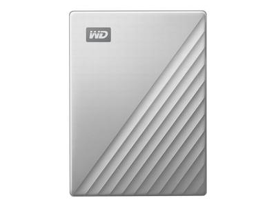 WD 4TB WD My Passport Ultra for Mac USB-C Portable Hard Drive - Silver, WDBPMV0040BSL-WESN, 36214781, Hard Drives - External