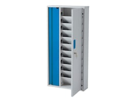 LapCabby 10-Unit Lyte Wall Cabinet Charging Station, LYTE10WDBL/USA, 34389392, Charging Stations