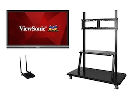 ViewSonic Bundle 55 IFP5550 4K Ultra HD LED-LCD Touchscreen Display with Wireless AC Adapter, Trolley Cart, IFP5550-E2, 36339831, Monitors - Large Format