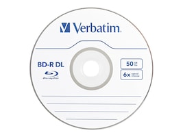 Verbatim 6x 50GB BD-R DL Media (25-pack Spindle), 98356, 17552135, Blu-Ray Media