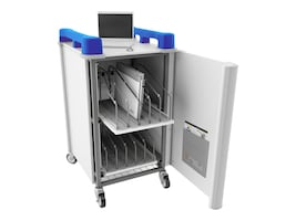 LapCabby 10-Unit LapCabby 10V Store and Charge Cart, Blue, LAP10VBL/USA, 34175589, Computer Carts