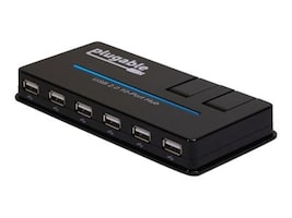Plugable USB 2.0 10-Port Hub w  20W Power Adapter, USB2-HUB10C2, 31912053, USB & Firewire Hubs