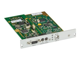 Black Box DKM FX Transmitter Modular Interface Card, Expansion Interface, Analog Audio, RS-232, ACX1MT-ARE, 33034805, Controller Cards & I/O Boards