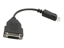 VisionTek DisplayPort (M) to DVI-D (F) Adapter Cable, Black, 7in, 900340, 13178721, Cables