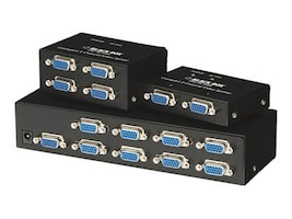 Black Box Compact 4-Channel VGA Video Splitter, AC1056A-4, 7612860, Video Extenders & Splitters