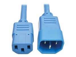 Tripp Lite Standard Computer Power Extension Cord, 10A, 18AWG IEC-320-C14 to IEC-320-C13, Blue, 2ft, P004-002-ABL, 32985721, Power Cords