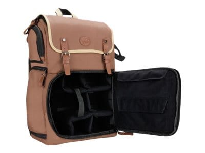 Accessory Genie GoGroove DSLR Camera Backpack, Tan, GGBCCBK100TNEW, 36552982, Carrying Cases - Camera/Camcorder