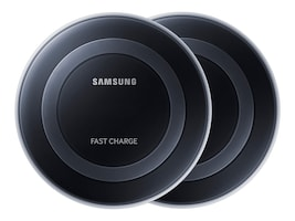 Samsung 2PK BF FAST CHARGE WRLS        PWR CHARGING PAD BLACK, EP-BD010MIXLUS, 36252429, Power Cords