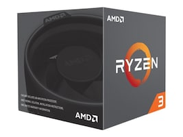 AMD Processor, Ryzen 3 QC 1200 3.1GHz 3.4GHz Turbo 8MB Cache 65W 2667MHz, YD1200BBAEBOX, 34359337, Processor Upgrades
