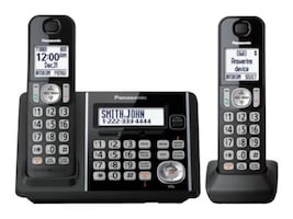 Panasonic Expandable Cordless Phone w  Call Block & Answering Machine - 2 Handsets, KX-TG3752B, 34877265, Telephones - Consumer