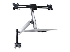 DoubleSight Sit Stand Full Motion Lift Arm with Keyboard Tray, Desk Mount, DS-ERGO-200, 32596056, Furniture - Miscellaneous