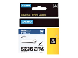 DYMO 3 4 Rhino Blue Vinyl Labels, 1805417, 13202411, Paper, Labels & Other Print Media