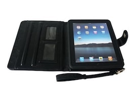 Bytecc Leather Carrying Case for iPad 2, Black, IP-CASE, 12750642, Carrying Cases - Tablets & eReaders