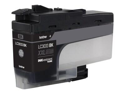 Brother Black LC3033BK INKvestment Tank Super High Yield Ink Cartridge, LC3033BK, 35855535, Ink Cartridges & Ink Refill Kits - OEM
