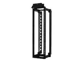 Chatsworth 51RMU Adjustable Rail QuadraRack, Black, 15254-715, 34300343, Racks & Cabinets