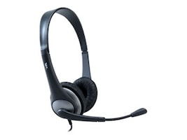 Cyber Acoustics AC-204 Stereo Headset with Boom Mic, AC-204, 12917529, Headsets (w/ microphone)