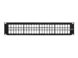 Leviton 48-Port QuickPort High-Density Patch Panel, 49255-H48, 5925133, Patch Panels