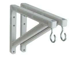 Draper Non-adjustable Wall Brackets 10 to 14 Extension, 227214, 6389871, Stands & Mounts - AV