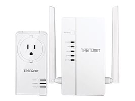 TRENDnet WiFi Everywhere Powerline 1200 AV2 Wireless Kit, TPL-430APK, 34233814, Wireless Access Points & Bridges