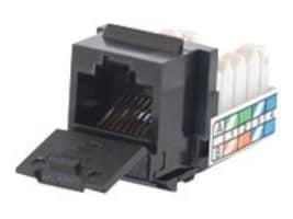 C2G Cat5e 90-Degree Keystone Jack, Black, 35203, 9368418, Cable Accessories